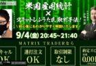 9月7日(月)経済指標予定