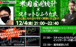2020年12月4日(金)21:00~22:40雇用統計Live!